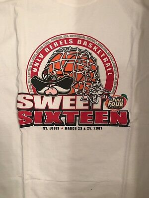 Rebels Vtg 2007 NCAA Sweet 16 final Four White T-shirt Mens Large Preowned EUC