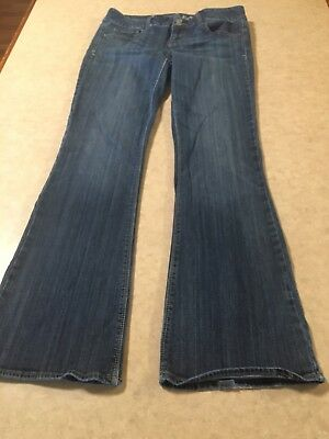 American Eagle Outfitters Womens Jeans Artist Flare Cut Dark Wash Size 10 Reg