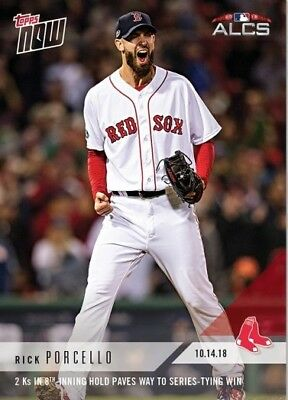 2018 Topps NOW MLB 889 Rick Porcello 2 Ks in 8th-Inning Hold Paves Way