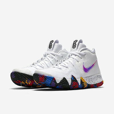 2018 Nike Kyrie 4 March Madness NCAA Mens Size 7 White Multi-Color 943806 104
