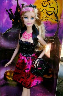 Halloween Barbie Doll Happy Halloween Witch Doll Pink Black Mattel