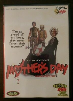 Mothers Day Directors Cut DVD Out of Print RARE Troma Horror Cult Classic OOP