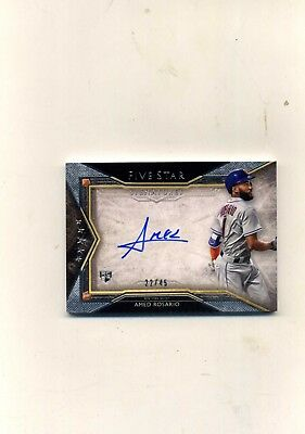 2018 Topps Five Star Baseball Amed Rosario RC Autograph 2245 On Card