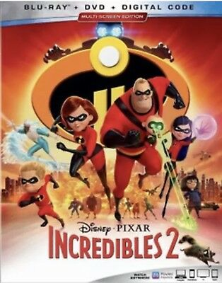 INCREDIBLES 2BLU-RAY-DVD-DIGITALWSLIPCOVER NEW UNOPENED