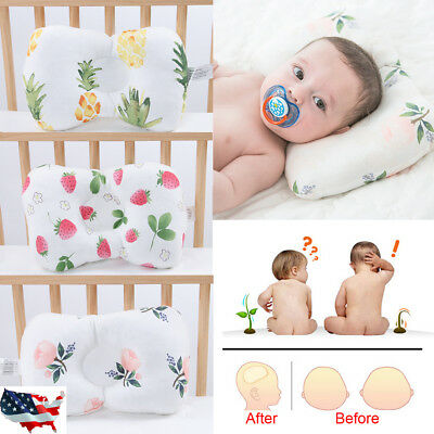 Baby Newborn Infant Pillow Silk floss Prevent Flat Head Anti Roll