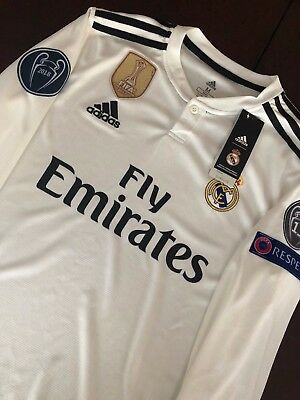 Gareth Bale 11 Real Madrid LONG SLEEVE Home UCL Jersey NWT