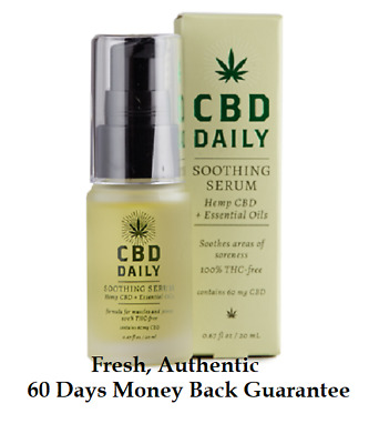 CBD Daily Soothing Serum - Cream Hemp - Essential Oils Muscle Joint Pain Relief