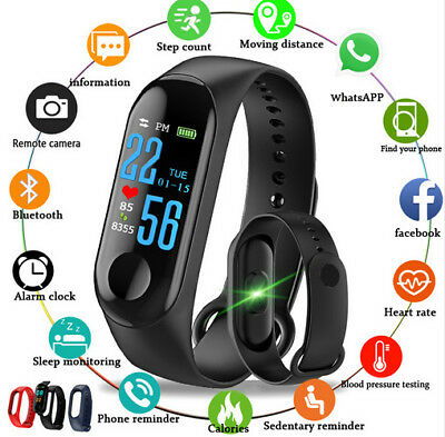 Bluetooth Smart Watch Pedometer Sleep Health Heart Rate Monitor For Android -IOS