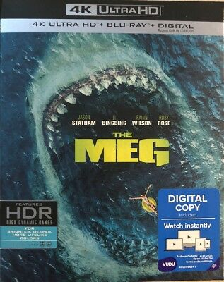 THE MEG4K ULTRA HD-BLU-RAY-DIGITAL HDWSLIPCOVER NEW FREE SHIPPING