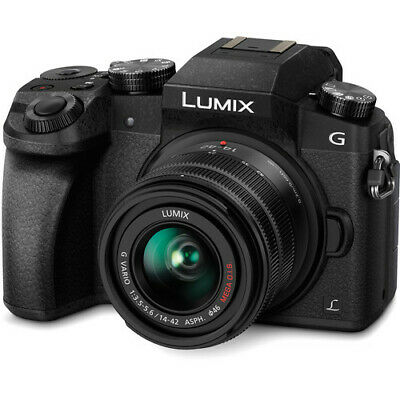 Panasonic Lumix DMC-G7 Mirrorless Digital Camera - Black w14-42mm Lens