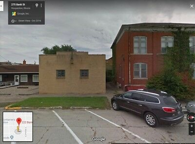 1 STORY BRICK COMMERCIAL BUILDING UP FOR AUCTION WITH NO RESERVE IN IL