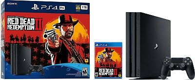 PlayStation 4 Pro 1TB Console - Red Dead Redemption 2 Bundle and 2 games