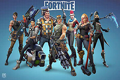 Fortnite Poster on Silk Battle Royale Game Wall Decals Decor Art Print 28x20