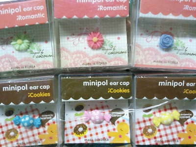 Dust Plug Ear Cap Phone Charm 6 Pc Assorted Flowers - Candy 3-5mm - FREE GIFTa