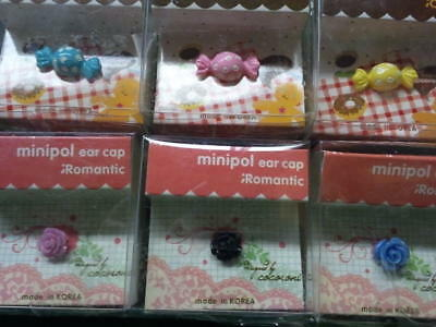 Dust Plug Ear Cap Phone Charm 6 Pc Assorted Flowers - Candy 3-5mm - FREE GIFTd