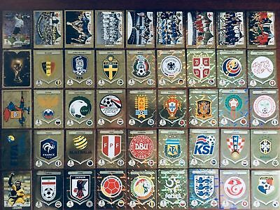 Panini Fifa World Cup Russia 2018-Foil Stickers EMBLEMS - LEGENDS Updated 1125