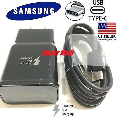 New Genuine Samsung Galaxy S9 S8plus Note 8 Fast OEM Wall Charger-Type C -CABLE