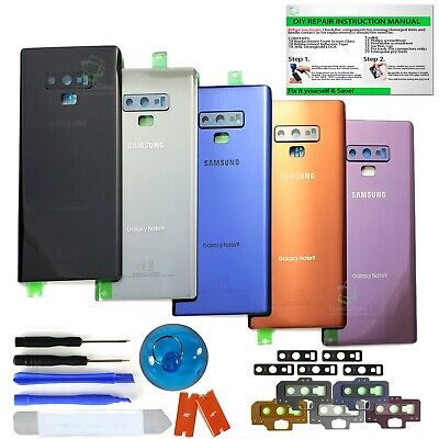 Back Glass Replacement Kit For Samsung Galaxy Note 9 w-CE-Camera Lens-IP68 Tape
