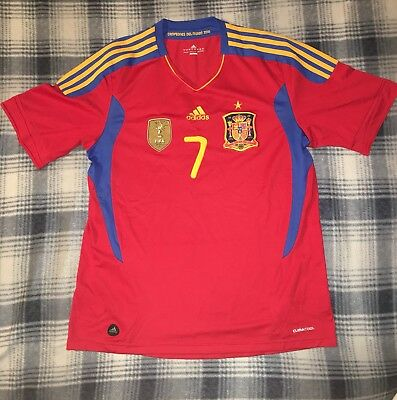 DAVID VILLA Jersey 2010 Spain World Cup 100 Authentic GREAT Condition