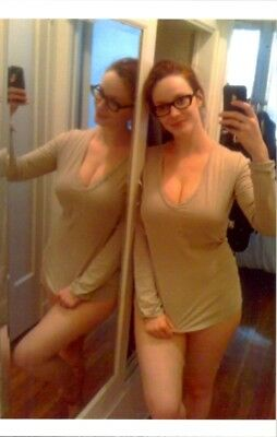 CHRISTINA HENDRICKS - JUST RELAXING AND TAKING A SELFIE