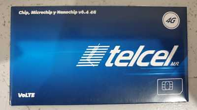 Telcel Sim Card UNLIMITED callsSMS within Canada USA and Mexico x 28 DAYS - MB