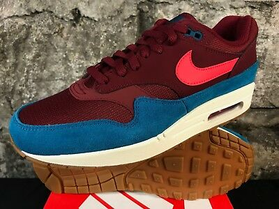 Nike Air Max 1 AH8145-601 Team Red Orbit Green Abyss White Mens Shoes NEW 8-12