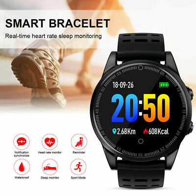 Mens Waterproof Bluetooth Smart Watch Phone Mate For Android IOS iPhone Samsung
