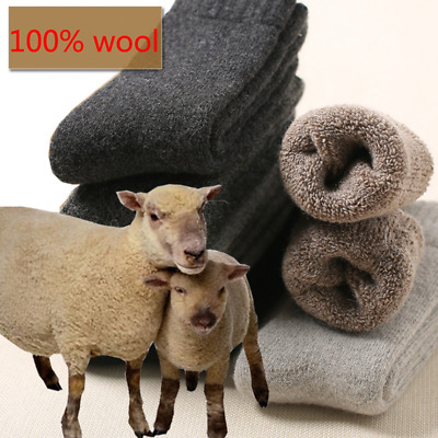 US 3Pairs MensWomen 100 Wool Cashmere Winter Thermal Soft Casual Warm Socks