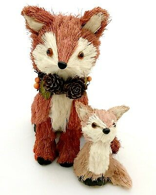 Sisal Red Fox - Baby Country Fall Autumn Thanksgiving Table Decor Figurine