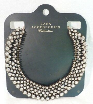 Zara Rhinestone Necklace As Seen on Kate Middleton Duchess of Cambridge