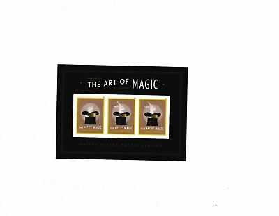 US 2018 The Art of Magic sheet with lenticular printed stamps