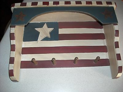 primitive country fourth 4th of july Americana usa American flag shelf display
