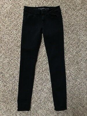 American Eagle Outfitters Womens Jeans 6 Long 6L Black Denim