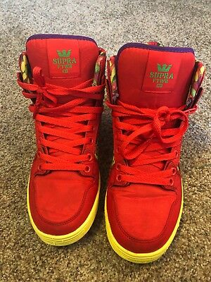 Supra Lil Wayne Vaider Lite Vice Pack Red Candy High Tops Sneakers Shoes