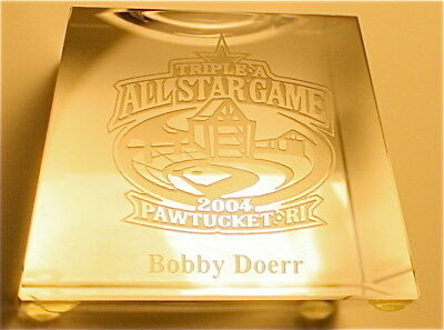 2004 TRIPLE A BASEBALL ALL STAR GAME Crystal Ball Holder Player Gift BOBBY DOERR