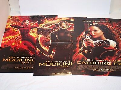 3 The Hunger Games - Movie Posters with Jennifer Lawrence