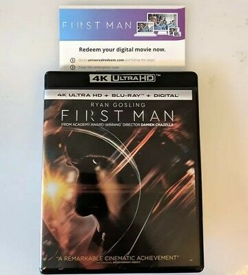FIRST MAN NEIL ARMSTRONG 4K ULTRA HDR DIGITAL MOVIE CODE ONLY