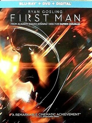 First Man 2019 Blu-Ray-DVD-Digital