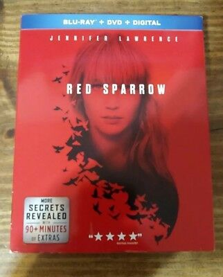 Red Sparrow Blu-ray - DVD - No Digital Copy - Slipcover Jennifer Lawrence
