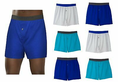 Fruit of the Loom Mens Knit Boxers 2X-3X Soft Stretch 4PK 1st Quality Underwear