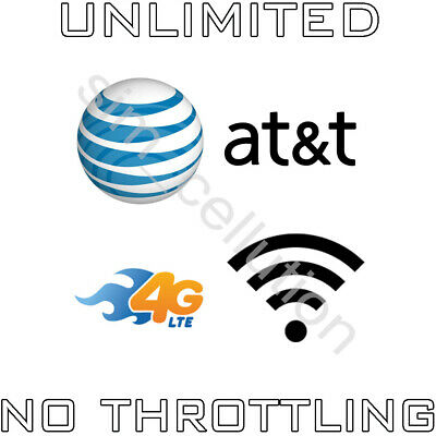 AT-T Unlimited 4G LTE No Contract Data Plan 34-99 Monthly Hotspot Tablet Modem