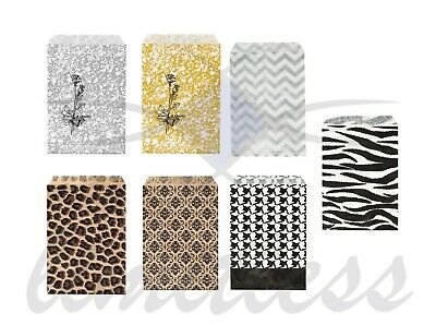 100 PAPER GIFT BAGS  - JEWELRY BAGS - 7 COLORS AND 4 SIZES