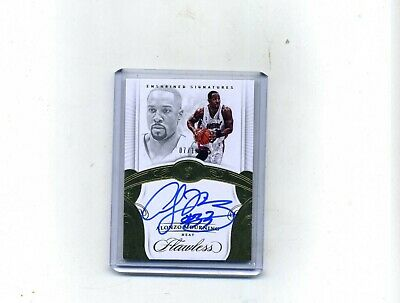 2017-18 Panini Flawless Bask- Alonzo Mourning Enshrined Sig- Gold Autograph 710