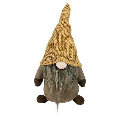 Northlight 11 Brown Thanksgiving Autumn Traditional Sitting Gnome Marigold Hat