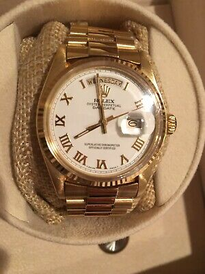 Rolex Day-date President 1803 18k Yellow Gold Mens Watch