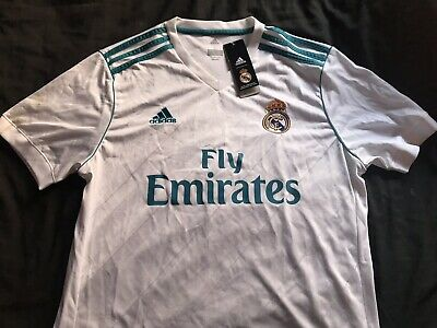Real Madrid jersey 20172018 Home shirt adidas mens soccer LARGE