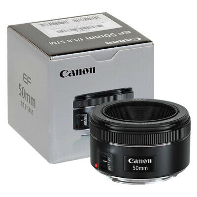 Canon EF 50mm f1-8 STM Lens in ORIGINAL RETAIL BOX