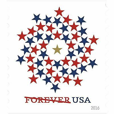 USPS Forever Stamps - Patriotic Spiral - 10000 Units - 1000 Books of 10 Stamps