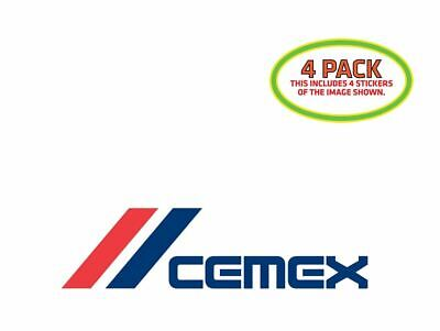 Cemex Sticker Vinyl Decal 4 Pack