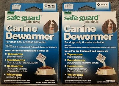 2 Boxs DOG SafeGuard fenbendazole Canine Dewormer 8 in 1 Treats 20 PANACUR